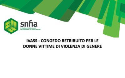 IVASS – Congedo retribuito per le donne vittime di violenza di genere