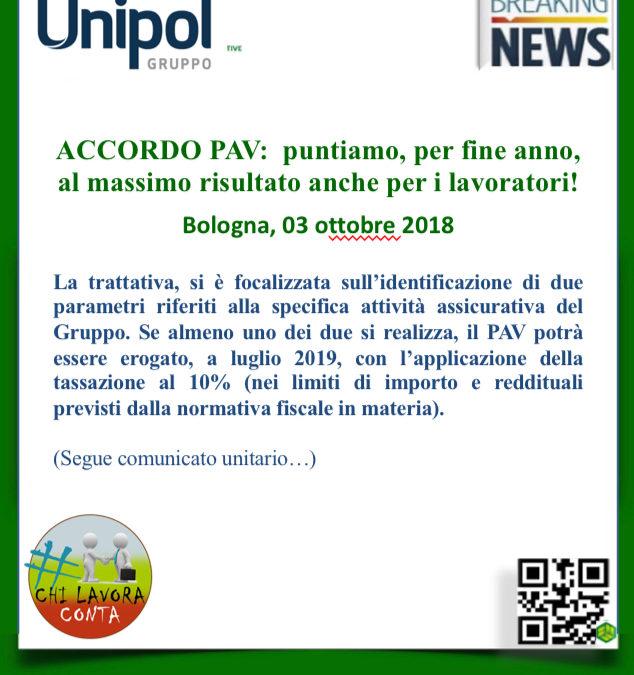 Gruppo Unipol – ACCORDO PAV